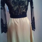 Dress Brocade Hitam Lengan Panjang