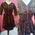 Dress Batik Payet Dengan Belt Pita
