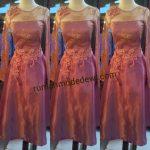 Dress kebaya Pink Magenta Dengan Aplikasi Prada