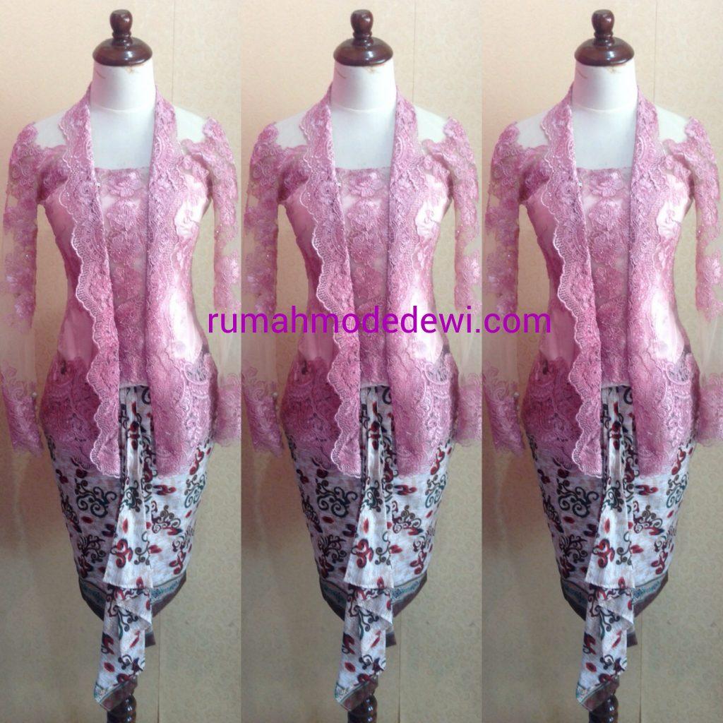 Kebaya Kartini Pink Dengan Rok Syabo