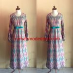 Dress Dengan Belt Pita Cantik Bahan Sifon