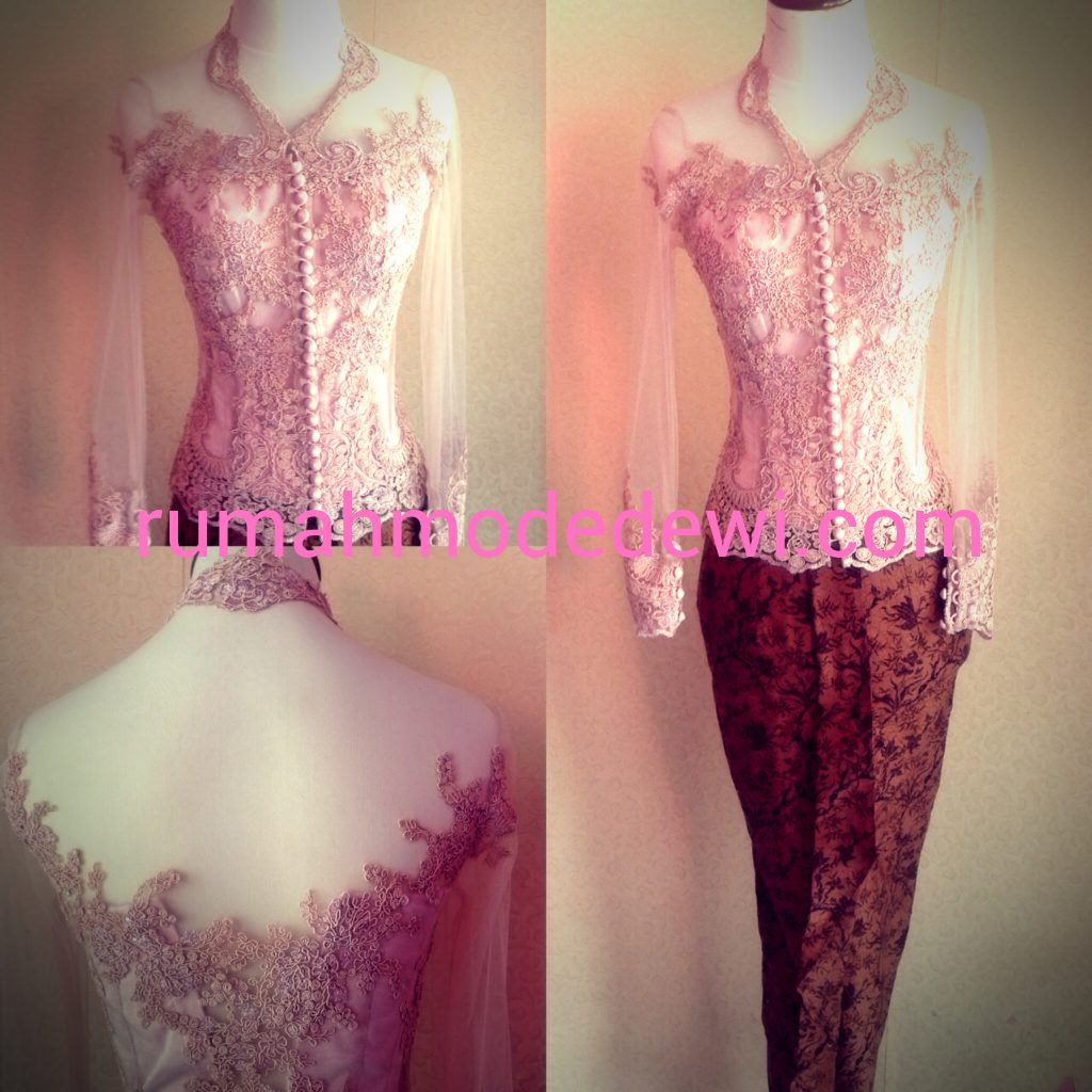 Kebaya Peach Modern Simple