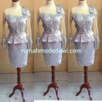 Dress Silver Asimetris Peplum Rok Sepan