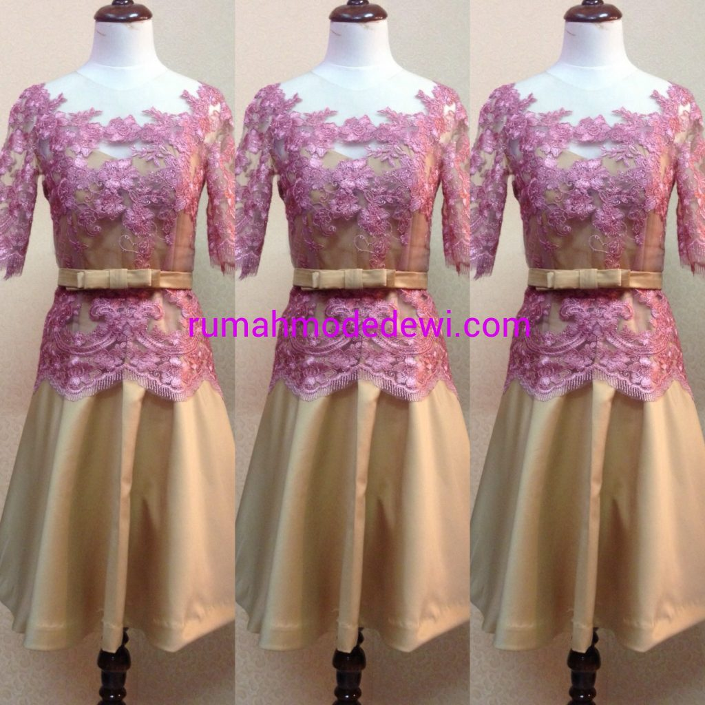 Kebaya Dress Pink Belt Pita