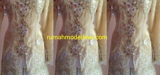Kebaya Muslim Warna Emas Payet