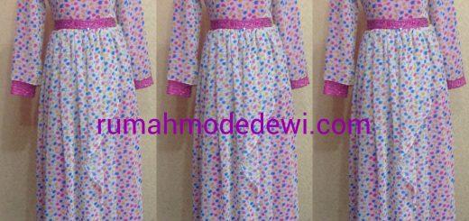 Dress Gamis Polkadot Pink