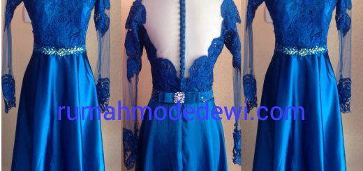 Dress Prada Biru Payet
