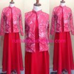 Dress Muslim Outfit Warna Merah Peach