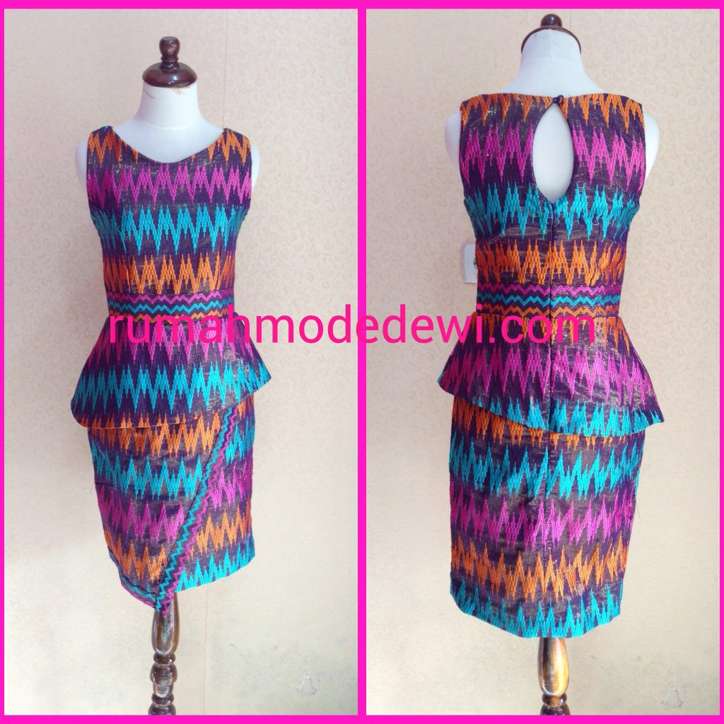 Dress Peplum Asimetris
